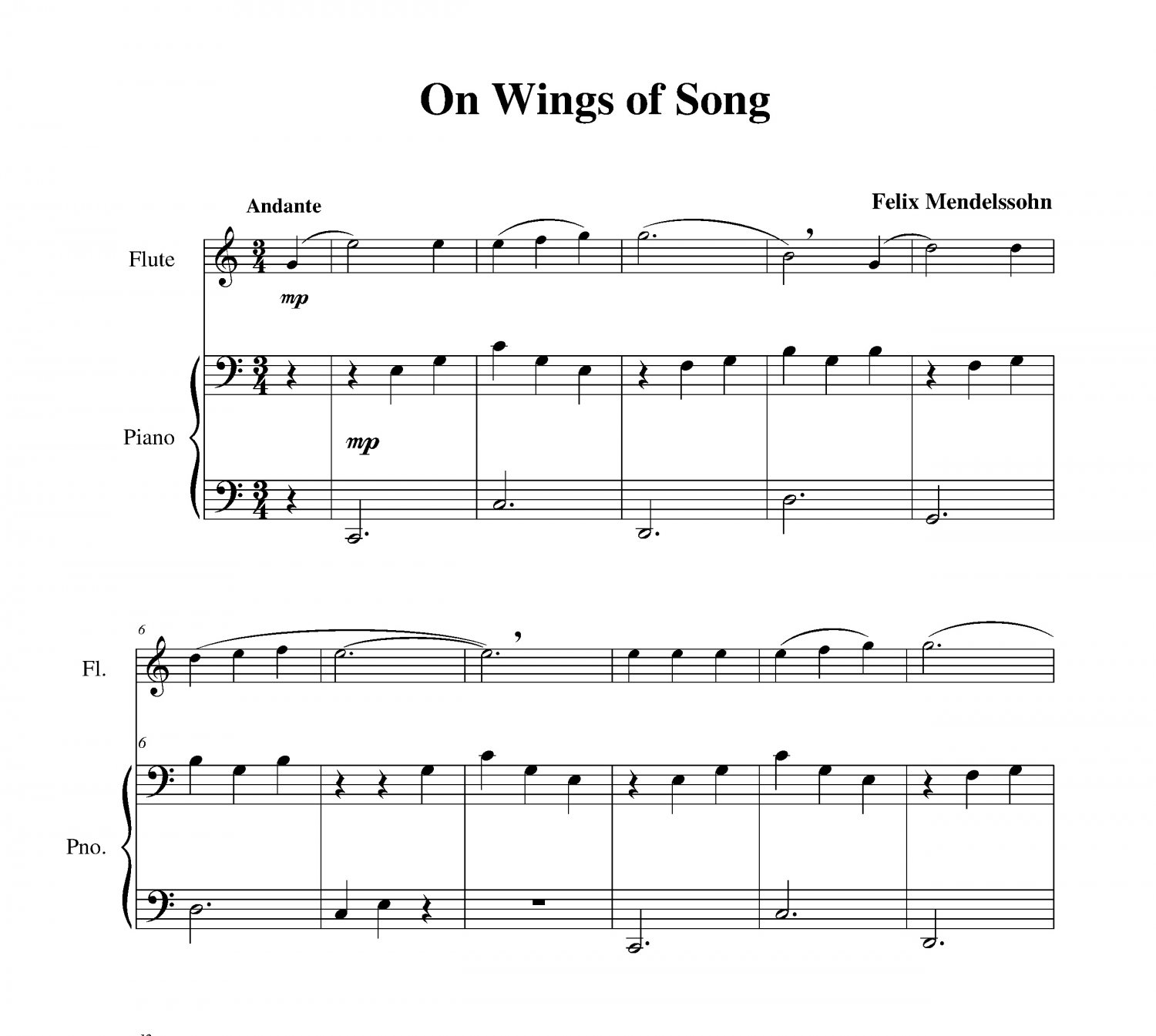 Mendelssohn - On Wings of Song