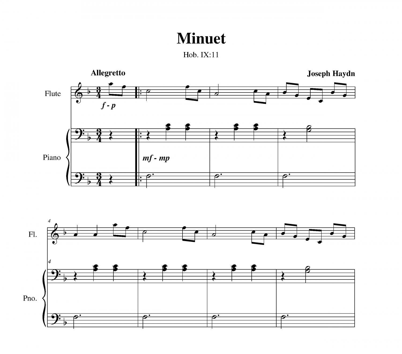 Haydn - Minuet (Hob. IX:11)