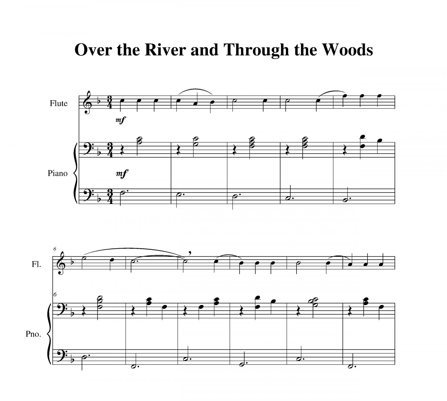 Over the River and Through the Woods