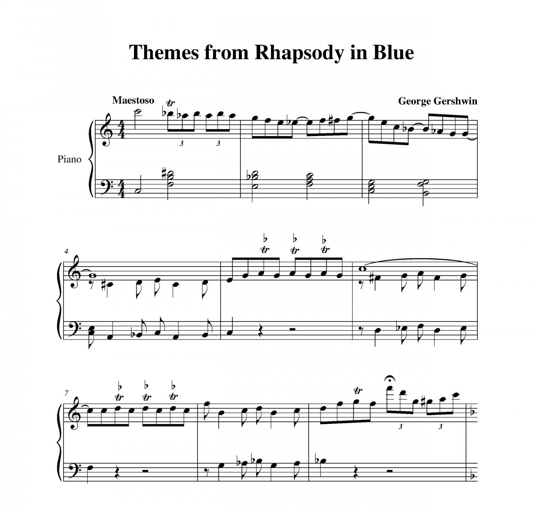 Gershwin - Rhapsody in Blue Themes