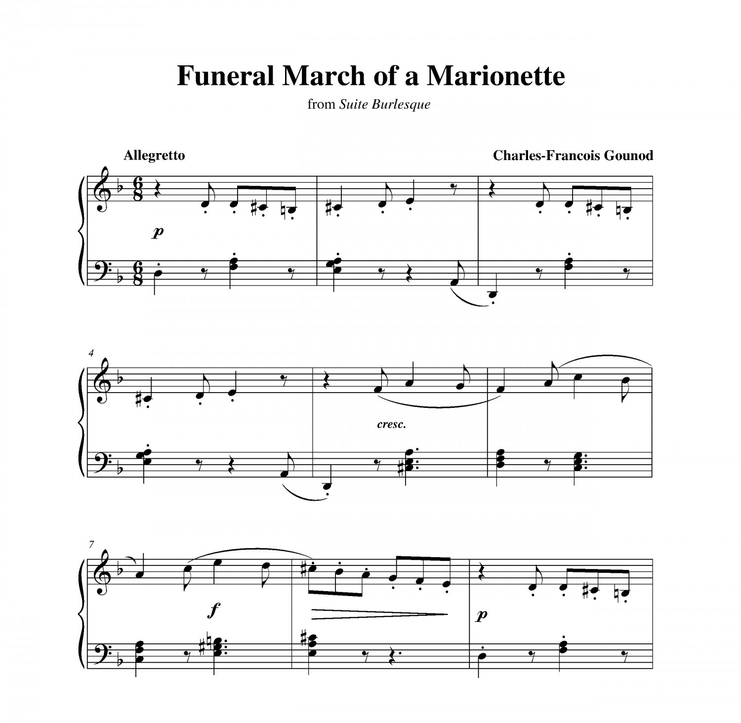 Gonoud - Funeral March of a Marionette