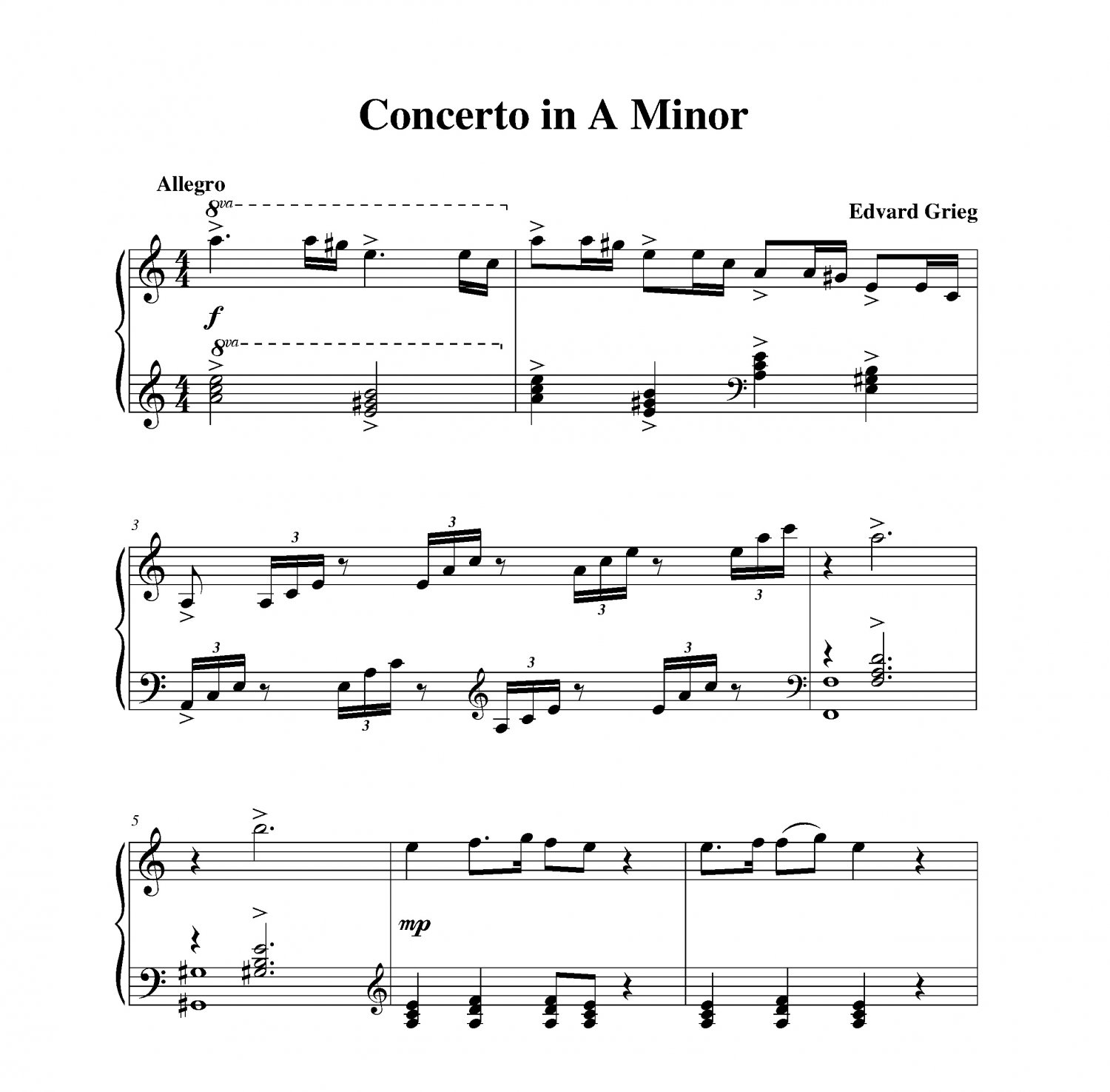 Grieg - Concerto in A Minor Themes