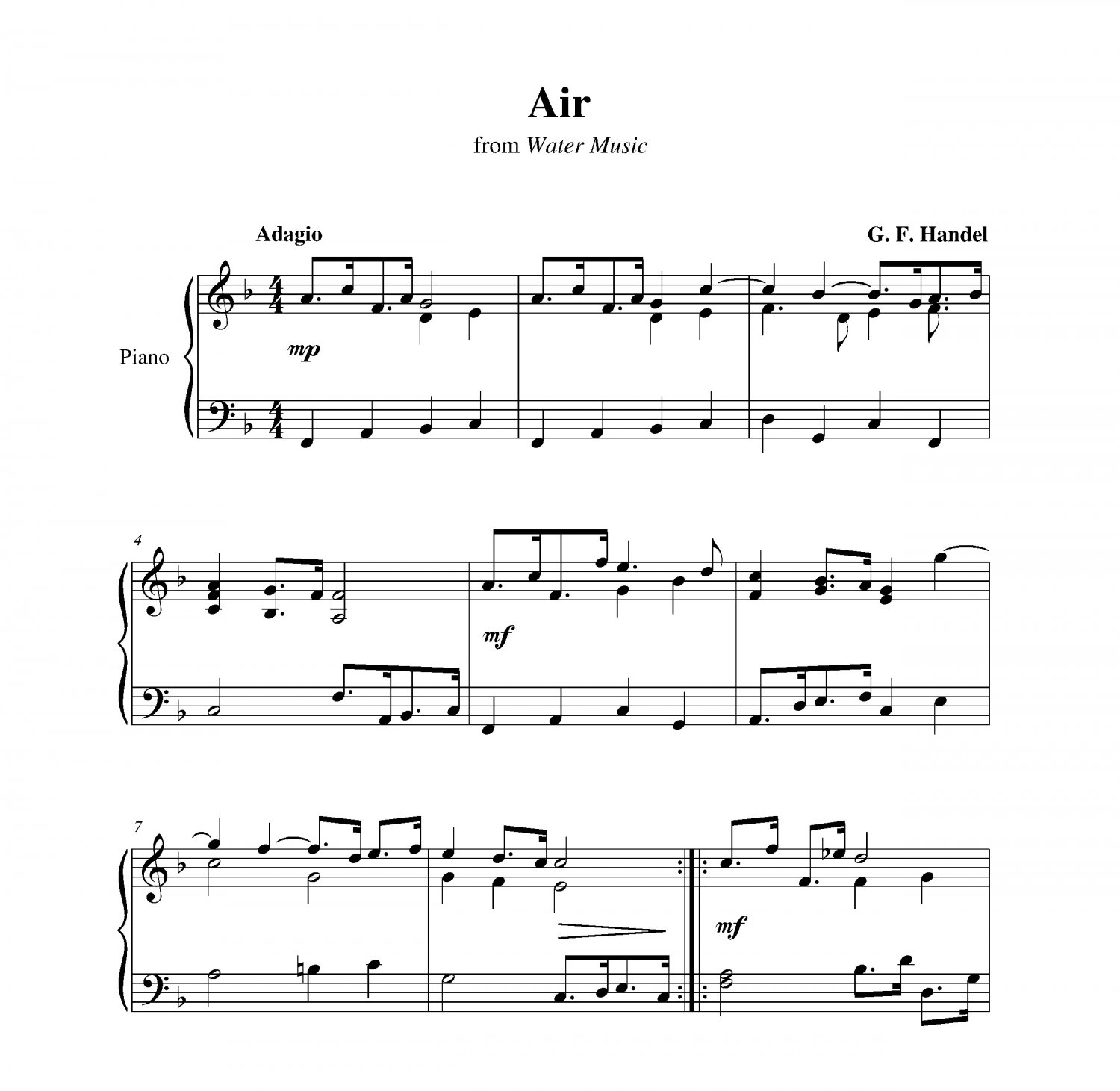 Air And Bourrée