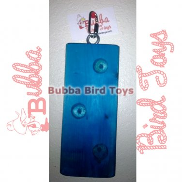 Blue Wood Puzzle Toy For Jungle Birds