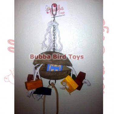Coconut and Rope Foraging Bird Cage Toy UNDER THE SEA