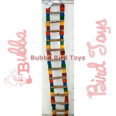 Extra Large Bendable Bird Cage Ladder and Perch 5 FOOT LONG