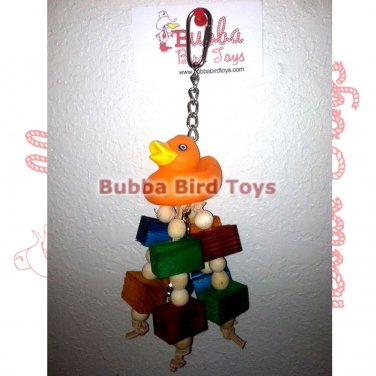 Durable Foraging Toy for Birds RUBBER DUCKY