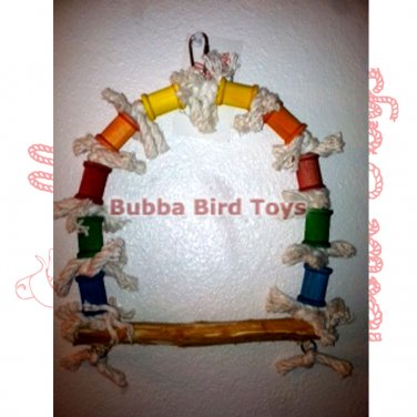 Unique Bird Cage Swing for Conures SPOOL AND COTTON