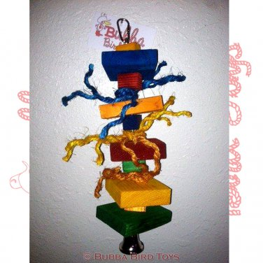 Colorful Pine Block Foraging Parrot Toy MIXED UP Toy For Birds