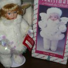 "HOUSE OF LLOYD #542305 CHRISTMAS ""SNOWDROP"" ANGEL 13"" DOLL WITH STAND"