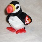 "GENUINE W/TAG TY BEANIE BABIES ""PUFFER"" PENGUIN BEANBAG PLUSH COLLECTIBLE TOY"