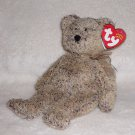 "GENUINE W/TAG TY BEANIE BABIES ""HARRY"" LONG HAIR BROWN BEAR COLLECTIBLE TOY 2001"