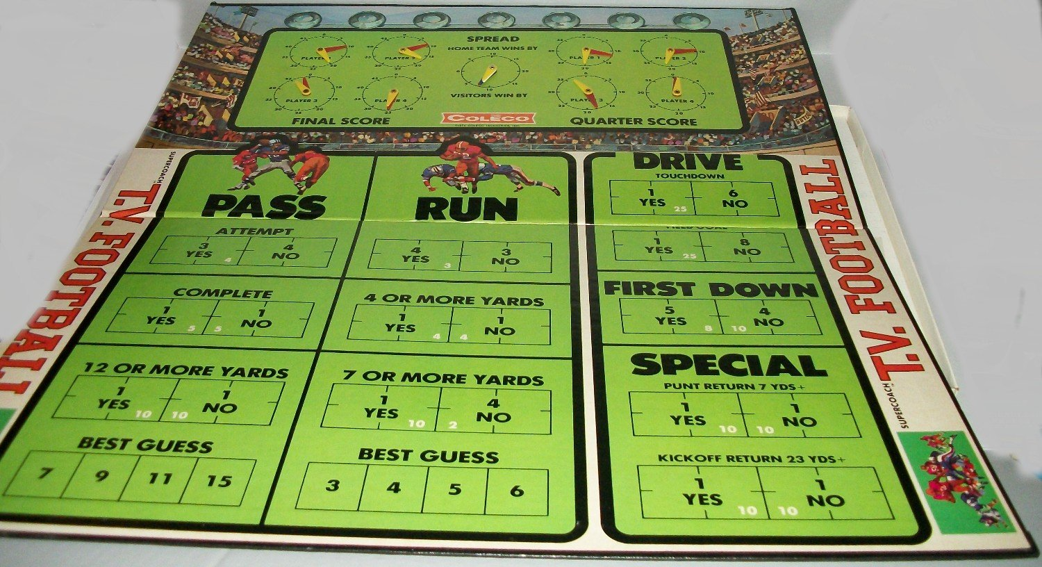 coleco super coach tv football vintage board game 1974 game board extra replacement part. Black Bedroom Furniture Sets. Home Design Ideas