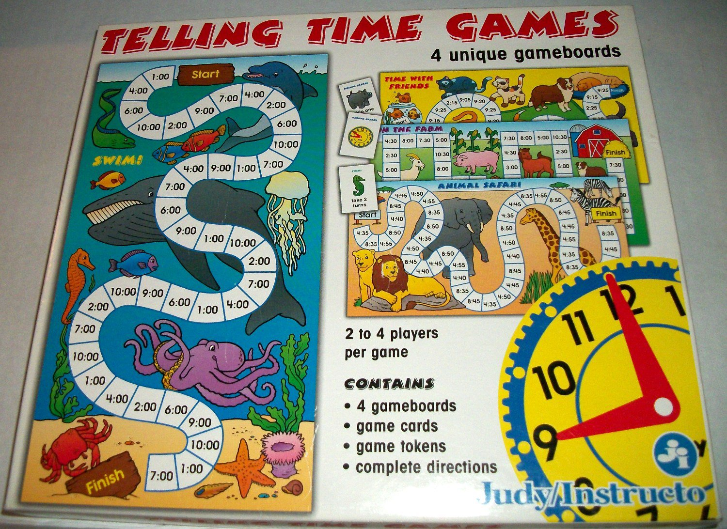 Telling Time Games Board Game Young Children Education ...