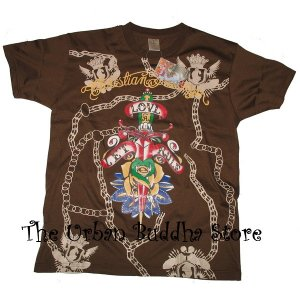 "Christian Audigier ""Let Love Rule"" T-Shirt Top"