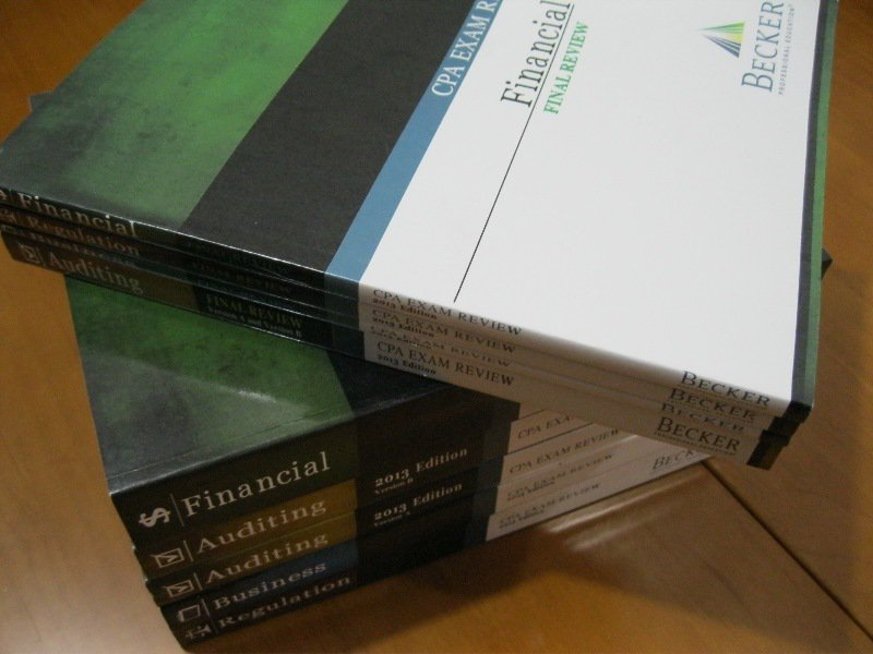 2013 becker cpa course review set and extra wiley study material fandeluxe Choice Image