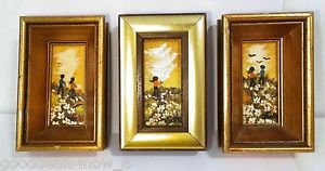 Hand Painted 3 mini picture frame Vintage Japanes style from North Hollywood