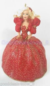 Hallmark Barbie 1993 Christmas tree Ornament Holiday time 1st in series doll