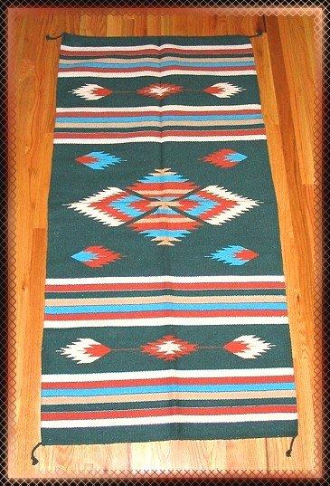 "Southwestern Design Log Cabin Decor Rug 32"" x 64"" - #12"