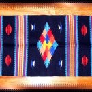 Southwestern Decor Log Cabin Rug Navy-Yellow-Turquoise