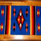Southwestern Decor Log Cabin Rug Blue-Yellow-Orange