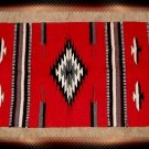 Southwestern Design - Log Cabin Rug Red-Blk-Gray-White
