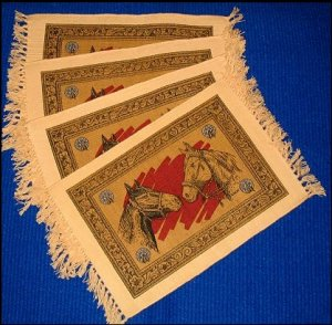 Western Placemat Set (4) - HORSE HEADS