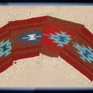 Navajo Design Wool Coasters - #3