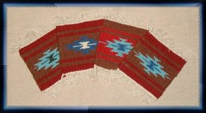 Navajo Design Wool Coasters - #3