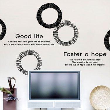 Unique Rough Circle Quotes DIY Modern Wall Art Vinyl Decals Stickers ...