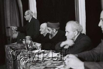 Israeli prime minister David Ben Gurion with chief Rabbi Uziel wonderful photo still #3