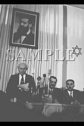 Israeli prime minister David Ben Gurion reading the declaration wonderful photo still #7