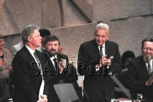 Presidents Bill Clinton & Ezer Witzman in jerusalem wonderful photo still #5