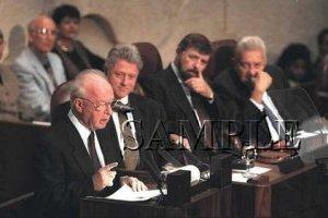 Israel prime minister Rabin with Bill Clinton in jerusalem wonderful photo still #7