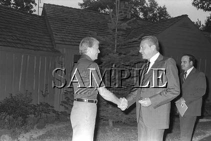 Presidents Carter & Ezer Witzman in camp david wonderful photo still #16