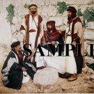 Color photo from late 19th century depicting arab men in jerusalem engaged in conversation #6