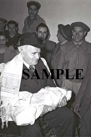 David ben gurion acts as goodfather of child of an immigrant from iraq wonderful photograph #32