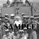 Israel prime minister david ben gurion poses with officers of war ship wonderful photograph #34
