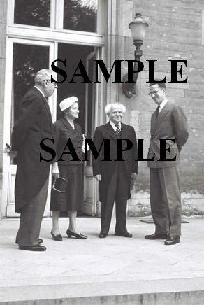 David ben gurion and his wife paula calling on king baudouin during their visit to belgium photo #38
