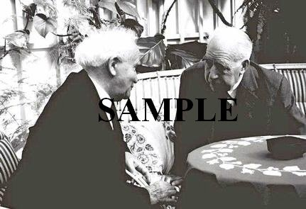 Nobel prize recipient Niels Bohr meeting with israel prime minister David ben gurion photo #53