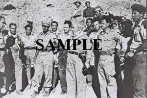 Yitzhak Rabin as a young palmach commander with David ben gurion and Yigal Allon photo #56