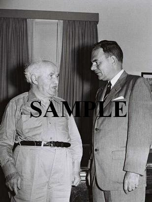 Former new york governor Thomas Dewey with David ben gurion at his office in jerusalem photo #58