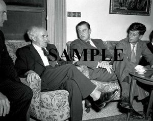 John F.Kennedy and Roosevelt JR during their visit to israel in 1951 with David ben gurion photo #61