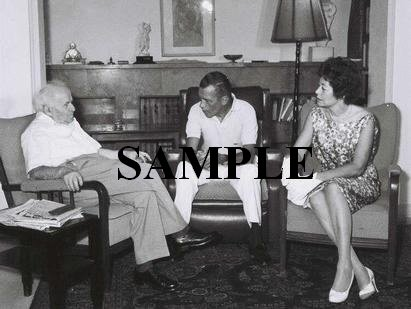 Ed Sullivan with israel prime minister david ben gurion wonderful photograph #63