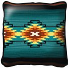"""~Set of 2~ 17"""" AYDIN Blue Western Southwest Design Tapestry Cushion Pillows"""