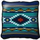"~Set of 2~ 17"" BALPINAR Blue Western Southwest Design Tapestry Cushion Pillows"