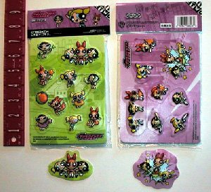 3D PowerPuff Girls Stickers. Licensed.