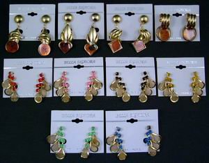 Assorted Name Brand Costume Jewelry Earrings (wholesale lot of 72)