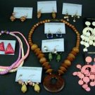 WOODEN NECKLACES and EARRINGS wholesale case of 48