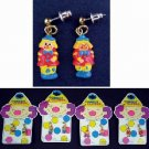 Colorful Comedy Clown Earrings (wholesale lot of 288)